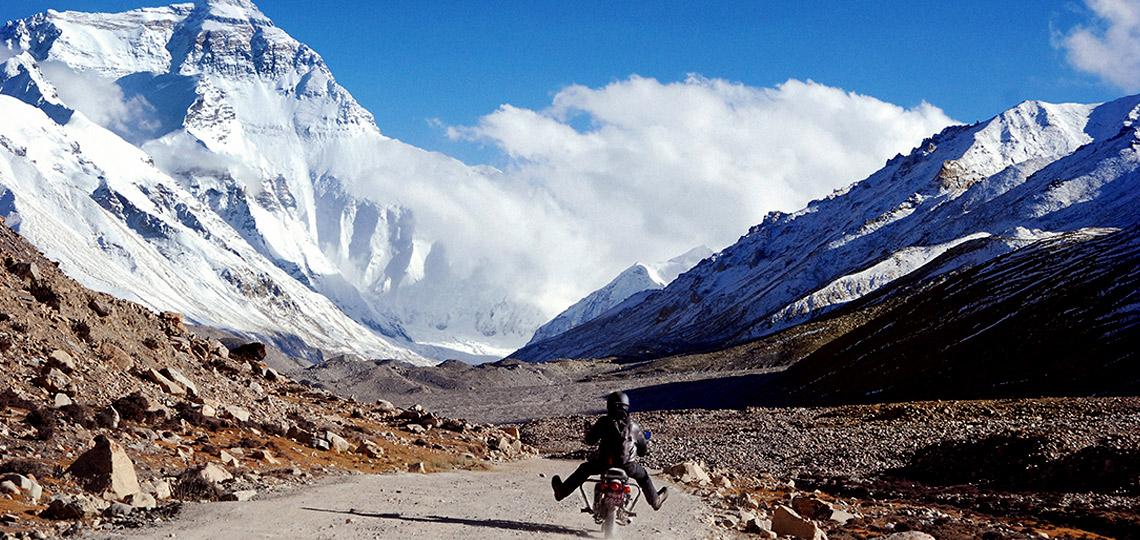 Scenic Ride During Lhasa Kathmandu Motorbike Tour