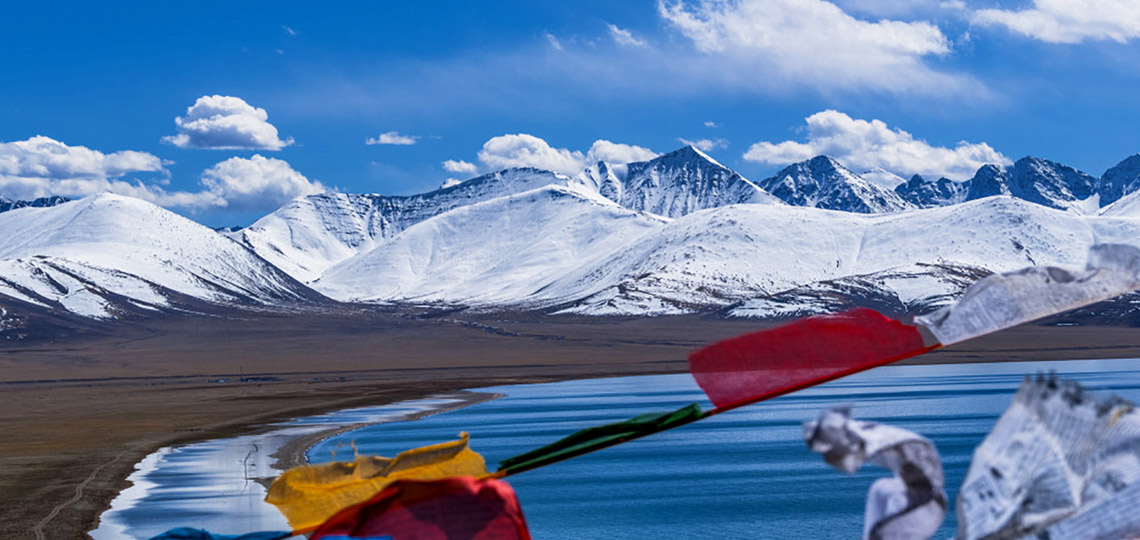 Scenic mountain and Namtso Lake