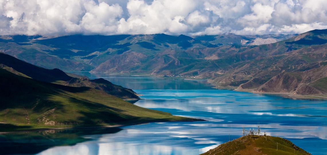 Scenic Yamdrok Lake Tibet