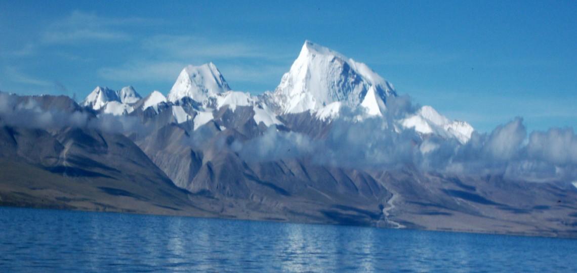 Beautiful Lake view on the way in Tibet tour from Kathmandu