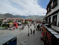 Barkhor Local tibetan streets in Lhasa