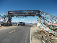 Decorative high passes during driving in Kailash