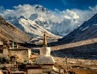 Everest view from Ronbuk Monastery