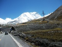 Wel paved road and scenic view